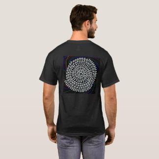 CAMISETA ダークを背景色にした「算数曼荼羅」シャツ