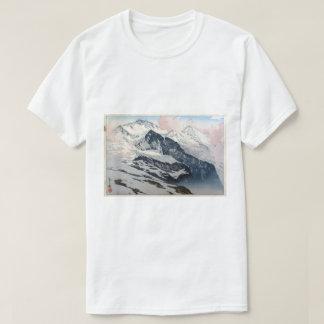 Camiseta ユングフラウ, Jungfrau, Hiroshi Yoshida, Woodcut