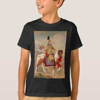 Camiseta 乾隆帝 do imperador do Qianlong de China na armadura