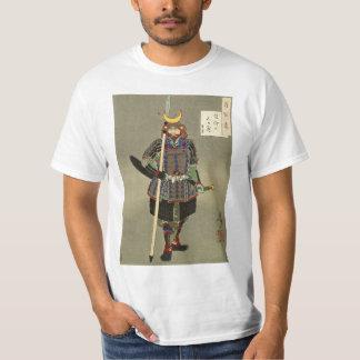Camiseta 山中幸盛 de Yukimori do guerreiro do samurai - 月岡芳年 de