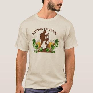 Camiseta (02) A caminhada para o T básico da luva longa dos