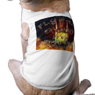 """Camiseta """"0,000 Flyball Flamz"""" é uma coisa do cão do"""