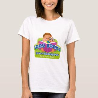 Camiseta 1000 livros antes do jardim de infância
