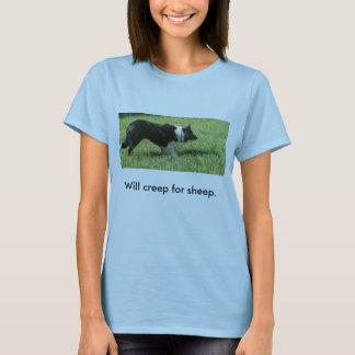 Camiseta 100_1369, rastejará para carneiros