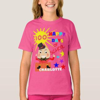 Camiseta 100 dias do divertimento Humpty Dumpty da escola