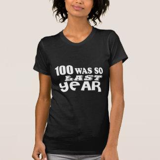 Camiseta 100 eram assim tão no ano passado design do