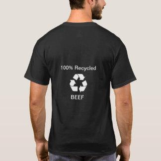 Camiseta 100 por cento de carne do reciclado