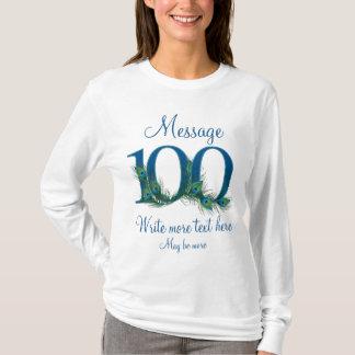 Camiseta 100th aniversário elegante personalizado do século