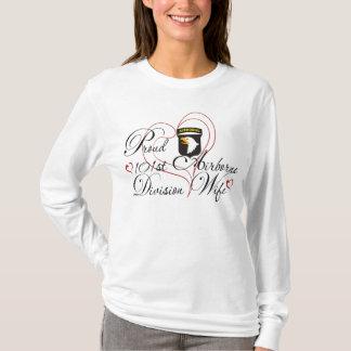 Camiseta 101st esposa orgulhosa da divisão aerotransportada