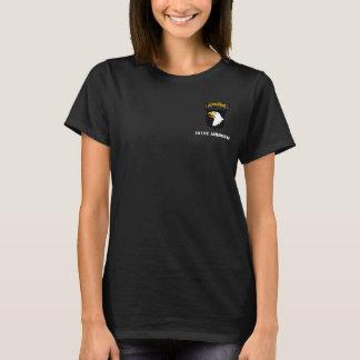 Camiseta 101st T das senhoras da divisão aerotransportada