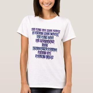 Camiseta 103:12 do salmo