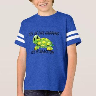 Camiseta 10% da vida acontece T