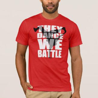 Camiseta 10% FORA DE/eles dançam, nós lutam (a camisa)