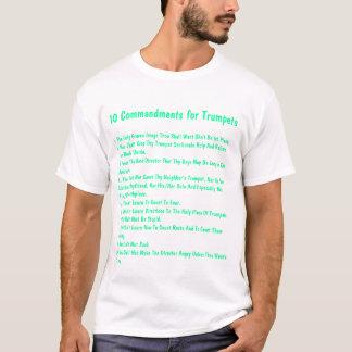 Camiseta 10 mandamentos para trombetas