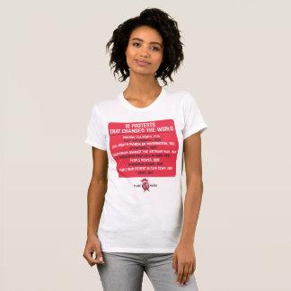 Camiseta 10 protestos que mudaram o mundo