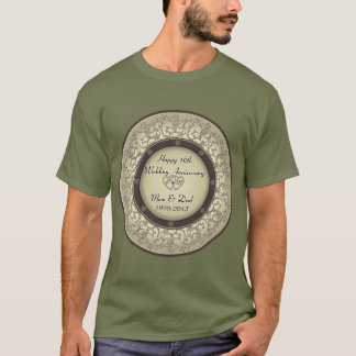 Camiseta 10o Aniversário de casamento