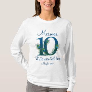Camiseta 10o aniversário de casamento 10 elegante