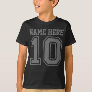 Camiseta 10o Aniversário (o nome customizável do miúdo)