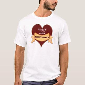 Camiseta 10o feliz. Aniversário