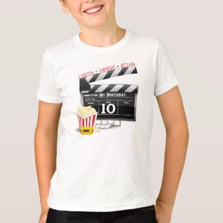 Camiseta 10o Partido do filme de Hollywood do aniversário