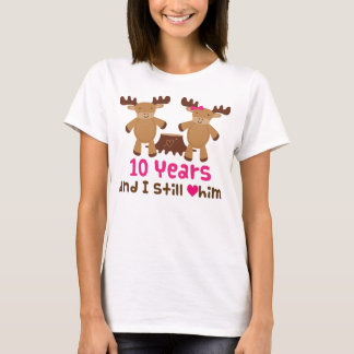 Camiseta 10o Presente do aniversário para ela