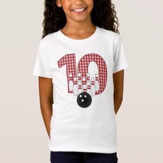 Camiseta 10o T inspirado BOLICHE do ANIVERSÁRIO