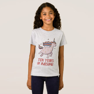 Camiseta 10o T-shirt do presente de aniversário dez anos de