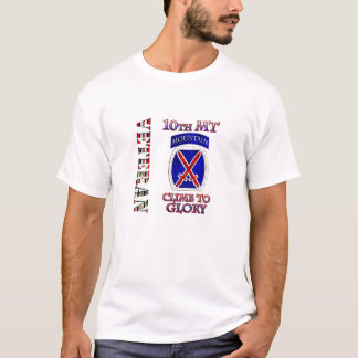 Camiseta 10o Veterano da montanha OEF OIF