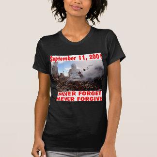 Camiseta 11 de setembro de 2001 nunca esqueça nunca perdoam