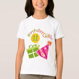 Camiseta 11o aniversário - menina do aniversário