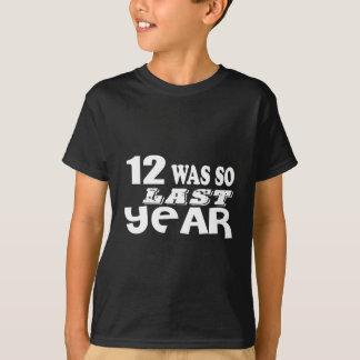 Camiseta 12 era assim tão no ano passado o design do