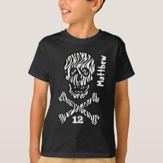 Camiseta 12o Crânio e Crossbones do aniversário 12 anos de