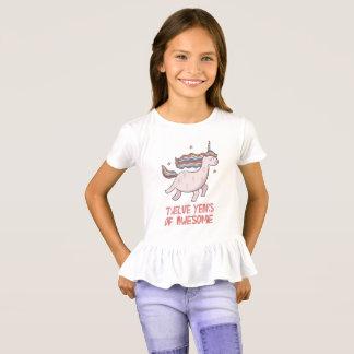 Camiseta 12o T-shirt do presente de aniversário doze anos