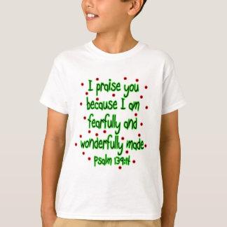 Camiseta 139:14 do salmo