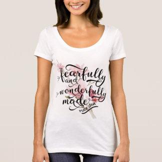 Camiseta 139:14 temìvel e maravilhosamente feito do salmo