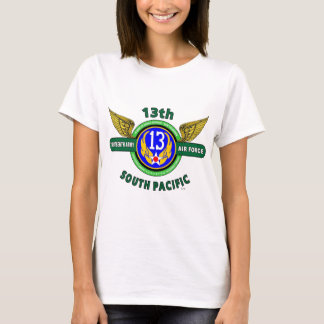 "Camiseta 13o FORÇA AÉREA ""SOUTH PACIFIC"" WW II do EXÉRCITO"