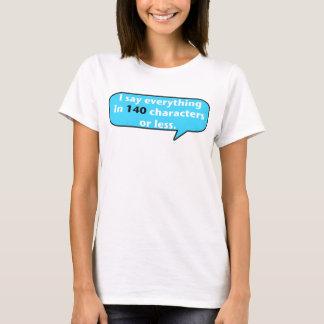 Camiseta 140 caráteres