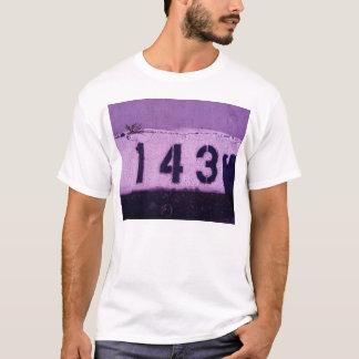 Camiseta 143 = eu te amo