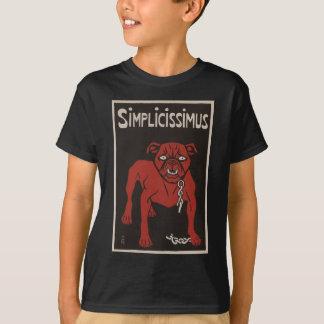 Camiseta 1896 anúncio preto e vermelho do vintage de