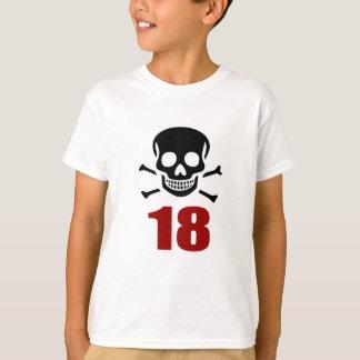 Camiseta 18 designs do aniversário