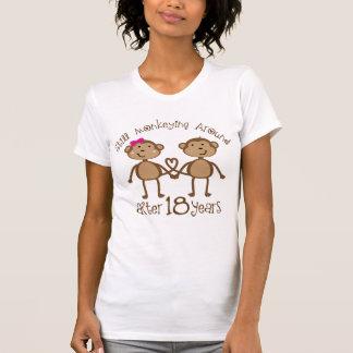 Camiseta 18o Presentes do aniversário de casamento