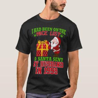Camiseta 18o Presentes do aniversário para a esposa no Xmas