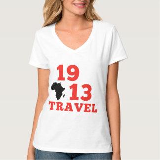 Camiseta 1913 viagens V - pescoço