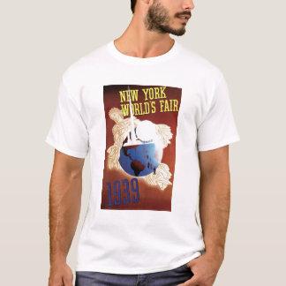 Camiseta 1939 do poster da feira de mundo de New
