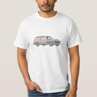Camiseta 1950 carrinha arborizado de Mercury - azul