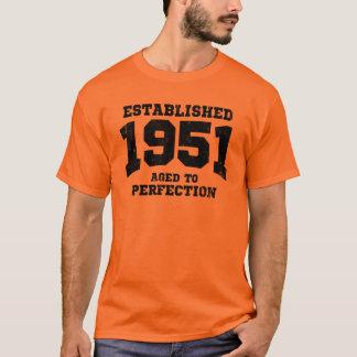 Camiseta 1951 estabelecidos envelhecidos à perfeição