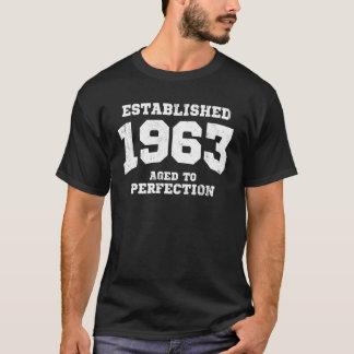 Camiseta 1963 estabelecidos envelhecidos à perfeição