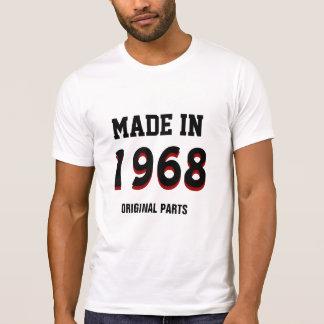 """Camiseta 1968: """"Feito em 1968, peças originais """""""