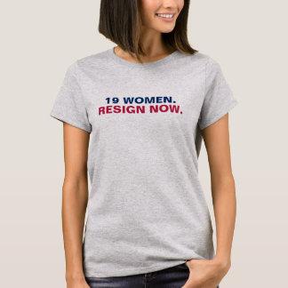 Camiseta 19 mulheres renunciam agora (a parte dianteira)