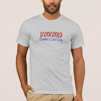 Camiseta 1/20/2013, o último dia de Obama